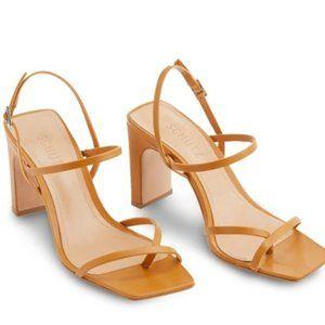 SCHUTZ Square Toe Amaia Sandal/Block Heel NWT $170